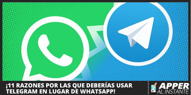 Razones para usar Telegram en lugar de WhatsApp